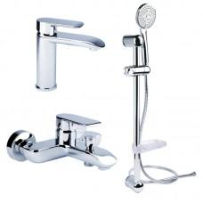 Набор смесителей для умывальника, ванны и душевая стойка Bianchi Joy KITJOY2021#SMCRM