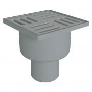 Трап ANI Plast TQ5202 сухой вертикальный, выпуск 50 мм с нержавеющей решеткой 10x10 см