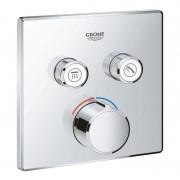 Внешняя часть термостатического смесителя на 2 выхода Grohe SmartControl 29148000