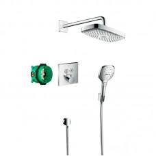 Набор душевой системы скрытого монтажа с термостатом Hansgrohe Raindance Select E 27296000